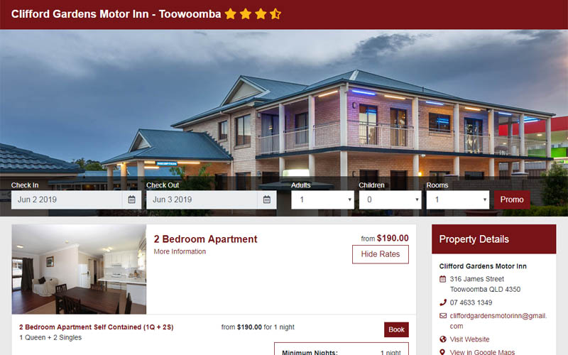 Book Accommodation online at Clifford Gardens Motor Inn - Toowoomba